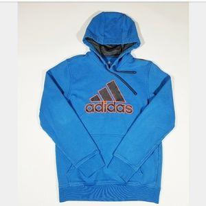 True Blue Adidas Spellout Unisex 90s Street Hoodie